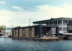 Danish boatbuilder Laust Nørgaard has completed a floating home for his family in Copenhagen harbour