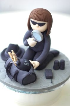 The Cupcake Gallery blog Cute spy cake topper