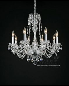 Talia 8 Light Clear Glass Crystal Chandelier