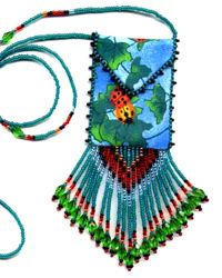 Beaded Ladybugs Amulet Bag Pattern & Kit. (Click on photo to go to this on our site). $10.95