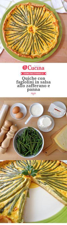 #Quiche con #fagiolini in salsa allo #zafferano e #panna della nostra utente Magdalena. Unisciti alla nostra Community ed invia le tue ricette!