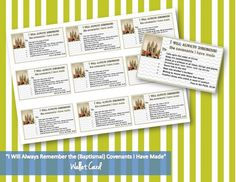 Baptismal Covenant Wallet Card for Young Women