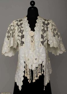 Handmade Lace Jacket, C. 1905, Augusta Auctions