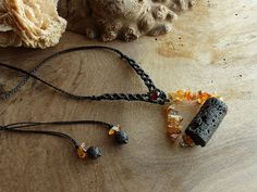 Volcano inspired amulet pendant  natural crystal by SpiritCarrier, £38.00