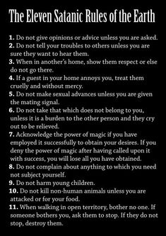 Satanic Rules, Satanic Art, Satanic Spells, Satanic Cross, Satanic Tattoos, Laveyan Satanism, The Satanic Bible, Religion, Occult Art