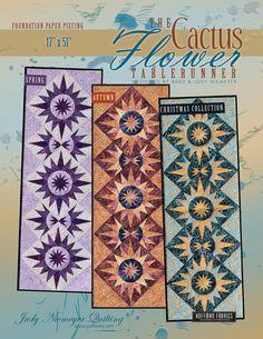 Cactus Flower Table Runner Pattern