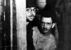 Kalman Linkimer (right) and Joseph Mandelshtam, who were hidden in the home of Righteous Among the Nations Robert Seduls and his wife Johanna with another nine Jews from the liquidation of the Liepāja ghetto in October 1943. In March 1945, Robert was killed by a Russian shell, but Johanna continued to hide the Jews until the liberation of the city by the Red Army in May 1945