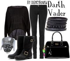 Star Wars: Vader inspired outfit by disneybound Star Wars Outfits, Disney Bound Outfits, Themed Outfits, Disney Inspired Fashion, Character Inspired Outfits, Disney Fashion, Fandom Fashion, Geek Fashion, Moda Disney