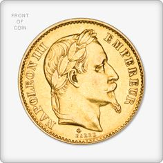 French Franc Napoleon III Gold Coin