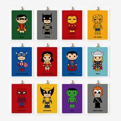 Cute superhero 5x7 art prints by loopzart on Etsy