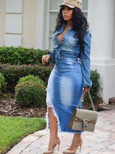 ff887891799d3 Wholesale Hot Sale High Waist Worn Out Maxi Denim Skirt LYG092034BU