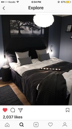 Men's Bedroom Design, Bedroom Setup, Guest Bedroom Decor, Apartment Bedroom Decor, Bedroom Layouts, Home Room Design, Home Bedroom, Decor Room, Home Building Design