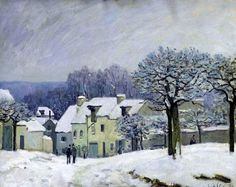 The Place du Chenil at Marly-le-Roi ~ Alfred Sisley 1876
