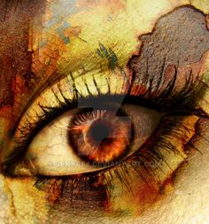 **Updated: July 23rd. Burnt the rusty edges a bit, and made the iris pop out more.** I thought I would try out something new Hope you like it! Original eye by: Rust texture by: