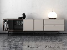 Render made using Vray to showcase my Minotti sideboard model. Sideboard Furniture, Table Furniture, Luxury Furniture, Modern Furniture, Furniture Design, Minotti Furniture, Furniture Movers, Painted Furniture, Narrow Sideboard