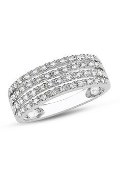 Diamond Ring In 10k White Gold.