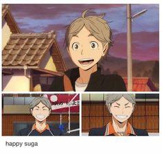 happy suga for good luck Sugawara Koushi, Daisuga, Kagehina, Haikyuu Volleyball, Volleyball Anime, Haruichi Furudate, Haikyuu Characters, Karasuno, Haikyuu Anime