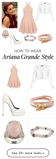 """Cat Valentine"" by charmedgreys on Polyvore featuring La Preciosa, King Baby Studio, Gorjana, BCBGMAXAZRIA and Yves Saint Laurent"