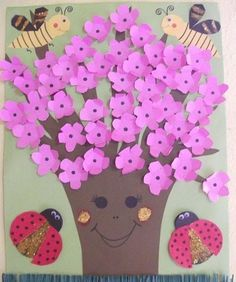 Crafts,Actvities and Worksheets for Preschool,Toddler and Kindergarten.Lots of worksheets and coloring pages. Tree Crafts, Diy And Crafts, Crafts For Kids, Bulletin Board Tree, Spring Tree, Preschool Art, Kindergarten Worksheets, Kids And Parenting, Wordpress Theme