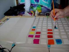 Silk Painting: Creating a Silk Dye Color Chart with Teena Hughes http://how-to-paint-on-silk.com - YouTube