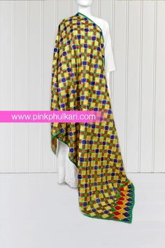 PinkPhulkari California Phulkari Vintage Hand Embroidered Bagh Phulkari Dupatta. To shop Visit our website www.pinkphulkari.com Images copyrights@PinkPhulkari California All rights reserved. Dresses With Sleeves, California, Website, Long Sleeve, Shopping, Vintage, Fashion, Moda, Sleeve Dresses