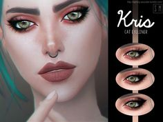 A new cat eyeliner in three styles.  Found in TSR Category 'Sims 4 Female Eyeliner'