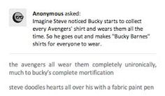 WELL THAT HURT   I dunno, I feel like the silliness of the whole thing would eventually get Bucky to smile and feel a little bit loved, so I'm in favor.