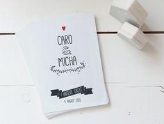 Hochzeitsgästebuch - Gästekarten Hochzeit A5 - Besonders schön! - ein Designerstück von thatsmypaperie bei DaWanda