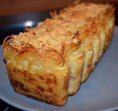 Cake de spaghetti carbonara