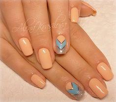Chic nails, Cool nails, Easy nail designs, Elegant nails, Glitter nails, Graceful nails, Light nails, Luxurious nails