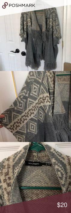 Spotted while shopping on Poshmark: NWOT fringe cardigan! #poshmark #fashion #shopping #style #Blu Pepper #Sweaters