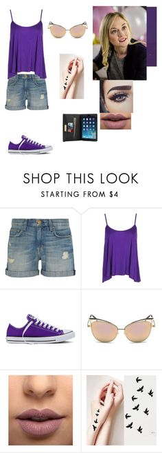 """""""Molly"""" by drum4life2703 ❤ liked on Polyvore featuring Current/Elliott, Boohoo, Converse, LASplash and MICHAEL Michael Kors"""