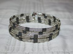 Double strand memory wire bracelet