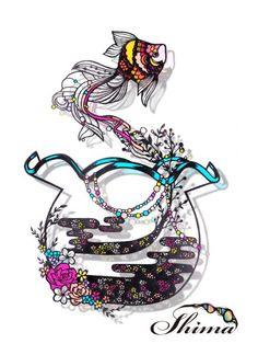 金魚鉢 Quilling Designs, Quilling Art, Origami Paper Art, Paper Crafts, Cut Out Art, Paper Lace, Types Of Craft, Paper Book, Canvas Designs
