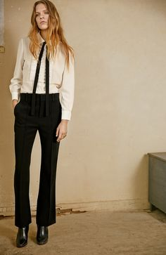 The Chloé Fall 2015 collection. white blouse with bow