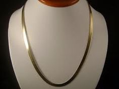 Gold Filled Flat Herringbone Chain Necklace for sale online Pendant Jewelry, Gold Jewelry, Chain Jewelry, Jewelry Box, Women Jewelry, Jewellery, Gold Chain With Pendant, Gold Chains For Men, Gold Bangles