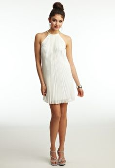 Chiffon Accordian Pleat Dress from Camille La Vie and Group USA - graduation dresses