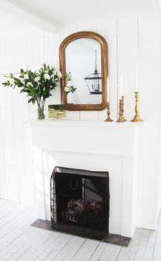 mirror via A Country Farmhouse: Guest House: After Photos