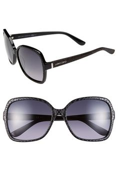 Jimmy Choo 58mm Butterfly Sunglasses available at #Nordstrom