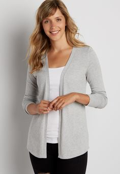 cardigan with pointelle stitch back (original price, $34.00) available at #Maurices