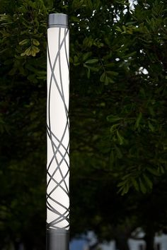 Light Column Pedestrian Lighting shown with 360 degree Ribbon shield
