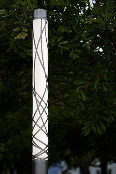 Light Column Pedestrian Lighting shown with 360 degree Ribbon shield