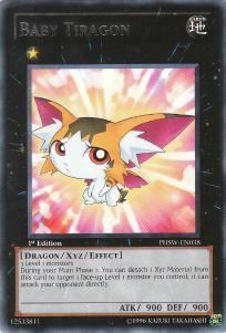Yu-Gi-Oh! Photon Shockwave 1st Edition Rare Card- Baby Tiragon #PHSW-EN038