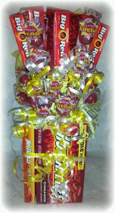 Hot tamales candy bouquet at stores.ebay.com/unique-candi-creations
