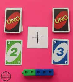 Uno Addition Activity for Kids