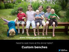 Our handmade trestle benches can be customized to fit any size crowd!most of the time! Trestle Tables, Handmade Furniture, Dinner Table, Joinery, Benches, Good Times, New England, Crowd, Fit