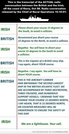 The Main Difference Between The Irish And British - Damn! LOL