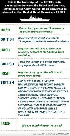 The Main Difference Between The Irish And British - Damn! LOL