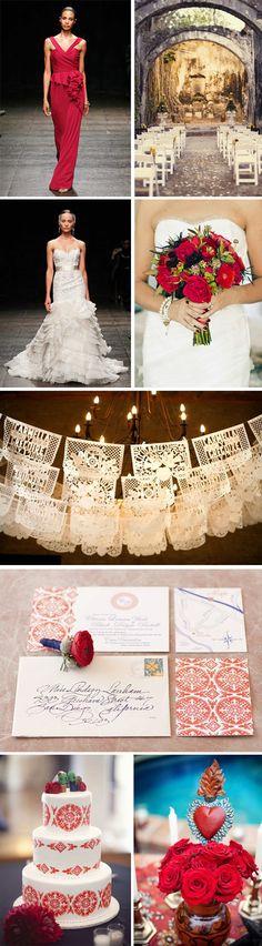 Spanish Red Wedding Ideas | The Destination Wedding Blog - Jet Fete by Bridal Bar