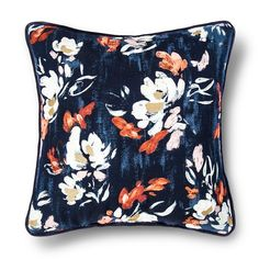 Sale : Home Decor : Target Blue Throw Pillows, Floral Pillows, Toss Pillows, Decorative Pillows, Wedding Lounge, Pillow Fabric, Pretty Patterns, Painting Patterns, Houses